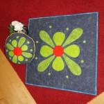 Blumentischmitteldecke- und Polster